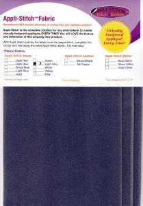 Floriani's Appli-Stitch Fabric R-V34 Velvet 3 Pack Light Grey