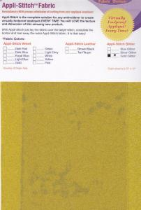 Floriani's Appli-Stitch Fabric R-G21 Glitter 2 Pack Gold
