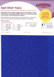 Floriani's Appli-Stitch Fabric R-G20 Glitter 2 Pack Blue