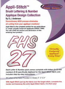 Floriani Appli-Stitch R-BDP Brush Lettering & Number Applique Design Collection