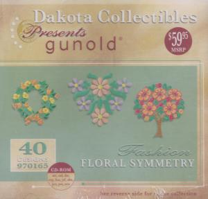 Dakota Collectibles Gunold 970165 Floral Symmetry Embroidery Designs CD