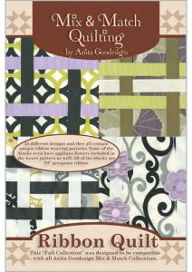 Anita Goodesign 187AGHD Ribbon Quilt Multi-format Embroidery Design Pack on CD