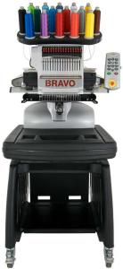 "Melco, Amaya, Bravo, 16 Needle, 14x12"" Hoop, Embroidery Machine, 300-1000SPM, Design Shop Lite Software, Dakota 1000 Designs, Acti-Feed Thread, Auto Trim, LED Light, Alum Cast, 75Kg,  melcoamaya-bravo"