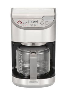 Krups KM611D50, 12 Cup, Programmable LCD, Dahlström, Coffee Maker, BrushED, Stainless Steel, Glass Carafe, Duo Filter,  Aroma Select, Auto Lift Brew Basket