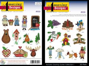 Amazing Designs / Great Notions Autumn Country Cuties 1333 Multi-Formatted CD