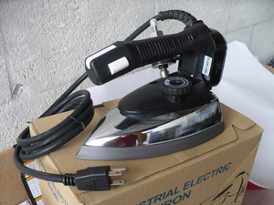 Gemsy CS-94-A, cs94a, cs94-a, cs-94a, Commercial, Gravity Feed, Steam Iron, 1000W,110V, 135oz Tank, Water Bottle, 80 inch Hose, Urethane Handle, Aluminum Soleplate, Iron Rest,Teflon Shoe, 5Lbs