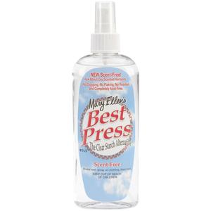 Mary Ellens S60034 Best Press Clear Starch 6oz Non-Aerosol, Scent Free, Pump Spray Bottle, No Flakes, No Clogs or White Residue! Fabric Stain Shield