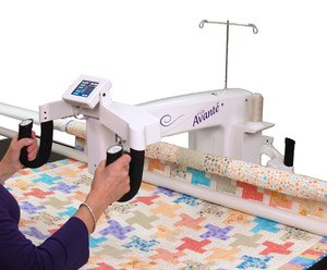 Handi Quilter, HQ18, handiquilter,  Avanté, 18 inch Longarm, Quilting Machine,1800 SPM, Stitch Regulator, Front  Rear Handles, 12 or 10 foot, Precision,8 Wheel, Glide Track, Studio Frame