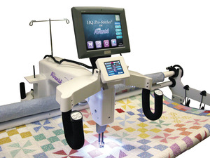 "Handi Quilter, HQ18,  Avanté, Pro Sticher, Stitcher Pro, Combo, 18"" Longarm Quilting Machine, Quilt Motor Robot, and 12' or 10' Precision Glide Track Studio Frame Package, Handi Quilter HQ18 Avanté 18x8"" Longarm Quilting Machine, HQ Pro Stitcher Robot, Studio Metal Frame, 12or10' Precision Glide Track Rails, 1800SPM, USA"