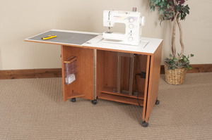 Elegant Fashion Cabinets Of America (Roberts) 7400 Space Saver Sewing Machine  Cabinet 51.5Wx25.