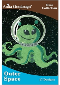 Anita Goodesign 128MAGHD Outer Space Embroidery Design Pack on CD