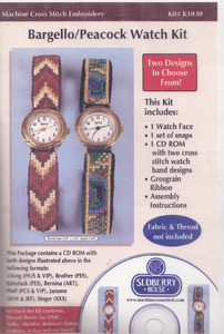 Sudberry House Sudberry House K1030 Cross Stitch Embroidery Bargello/Peacock Watch Band Kit Multi-Formatted CDCross Stitch Embroidery Holiday Reversible Watch Band Kit Multi-Formatted CDOnly