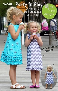 Olive Ann Designs OAD78 Party n Play sz 2-8