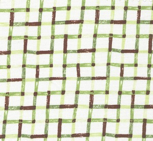 Fabric Finders  #1254 Green/Brown Lines Print 15 Yd Bolt 9.34 A Yd100% Cotton 60""