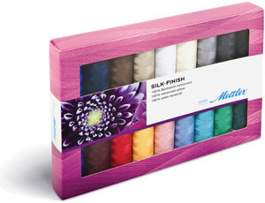 Mettler, Metrosene, SF18, KIT, Silk, Finish, Sewing, 100%, Cotton, Thread, Collection, Gift, Pack, 18, Spools