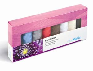 Mettler, SF8-KIT,  Silk Finish, 8 Spools, Sewing Thread, Collection, 8 Most Popular, Color, Spools, 164 Yards, Each