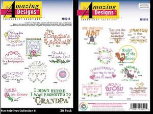 Amazing Designs / Great Notions 1318  Fun Relatives Collection II Multi-formatted CD