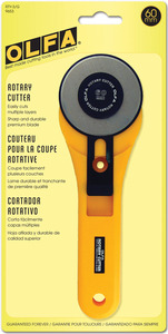 Olfa RTY-3 Extra Large Rotary Cutter 60mm Manual Rotary Knife Blade Fabric and Cloth Cutter,