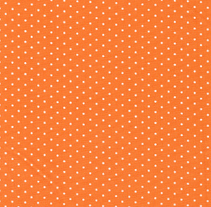 Fabric Finders #1258 Orange  With White Dots Print 15 Yd Bolt 9.34 A Yd100% Cotton 60""