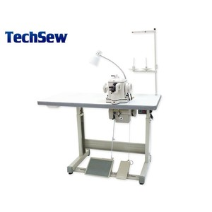 Techsew 402 Heavy Fur Disc Feed Sewing Machine, Power Stand, for Heavy Weight Sheepskin, Leather, Suede, Mink, Fox, Coat, Jacket, Glove, Slippers