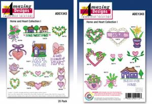 Amazing Designs / Great Notions 1343 Home and Heart Collection Multi-Formatted CD
