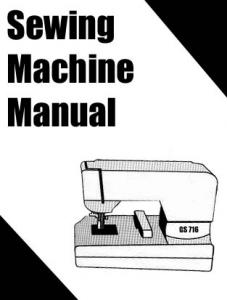 Riccar Sewing Machine Instruction Manuals imr-R104