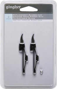 Gingher GG-5706 Seam Ripper Replacement Blades 2ct Count, Razor Sharp Knives for Gingher GG3779 Seam Ripper