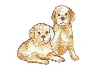 """White """"Cats & Dogs"""" Embroidery Card for For Brother, Baby Lock, Bernina Deco 500, 600, 650, Simplicity, & White PES"""