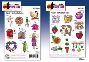 Amazing Designs / Great Notions 1367 Country Crafters Collection I Multi-Formatted CD