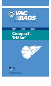Compact Replacement Cor-1412 Paper Bag, Compact Tank  Dvc 12Pk