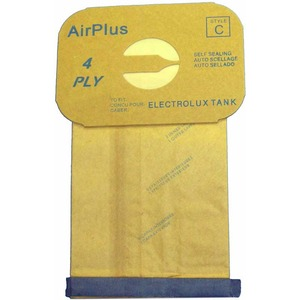 Electrolux Replacement Exr-1405 Paper Bag, Lux Tank 4Ply Env 12Pk