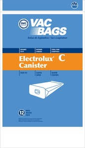 Electrolux Replacement Exr-14055 Paper Bag, Lux Tank 4Ply Dvc 12Pk