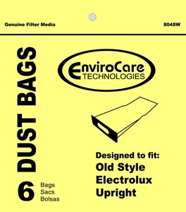 Electrolux Replacement Exr-14405 Paper Bag, Oval Opening  Early Upright Env 6Pk