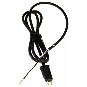 "Eureka E-35970-10 Cord, 47"" Pn Male Pigtail W/Stripped End Black"