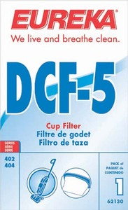 Eureka E-62130 Filter, Dcf5 Models 402/ 405 W/Blister 1 Pack