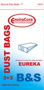 Eureka Replacement Er-14025 Paper Bag, Eur Style B&S 1700/3700 Env 3Pk