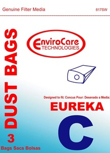 Eureka Replacement Er-14035 Paper Bag, Eur Style C   Mighty Mite Env 3Pk