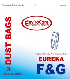Eureka Replacement Er-14065 Paper Bag, Eur Style F&G Esp Models Env 3Pk