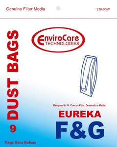 Eureka Replacement Er-14065-9 Paper Bag, Eur Style F&G Esp Models Env 9Pk
