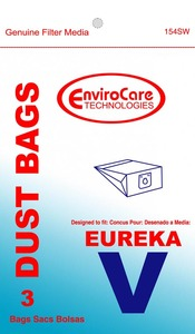 Eureka Replacement Er-14225 Paper Bag, Style V Can   Express Env 3Pk