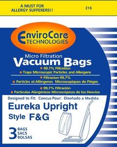 Eureka Replacement Er-1436 Paper Bag, Eur Style F&G Microfilter Env 3Pk
