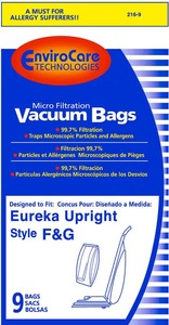 Eureka Replacement Er-1436-9 Paper Bag, Eur Style F&G Microfilter Env 9Pk