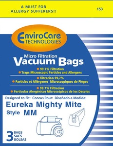 Eureka Replacement Er-1443 Paper Bag, Eur Style Mm  Microfilter Env 3Pk
