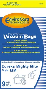 EnviroCare 153-9Pk Eureka Replacement Paper Bags, Style MM Micro-Filter