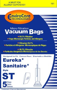 Eureka Replacement Er-1447 Paper Bag, Eur Style St  Comm Top Fill Env 5Pk