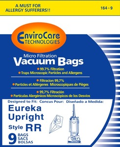 Eureka Replacement Er-1448-9 Paper Bag, Eur Style Rr  Microfilter Env 9Pk