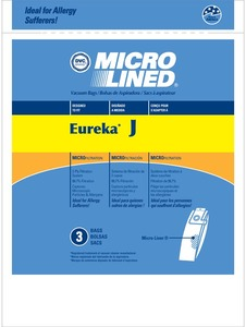 Eureka Replacement Er-1480 Paper Bag, Style J Uprt  2270 Microlined Dvc 3 Pk