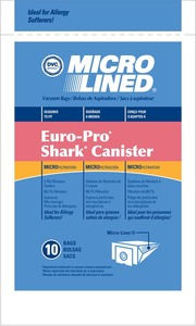 Europro Eur-1471 Paper Bag, Microlined    Shark Canister Dvc 10Pk