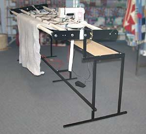 "Pennywinkle II All Metal Quilting Frame, 1""  Fabric Poles, Stand & Platform for Home Sewing Machines"