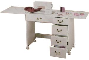 Perfexion PXD351 WHITE FINISH Sewing/Craft Desk by Horn of America, Preassembled